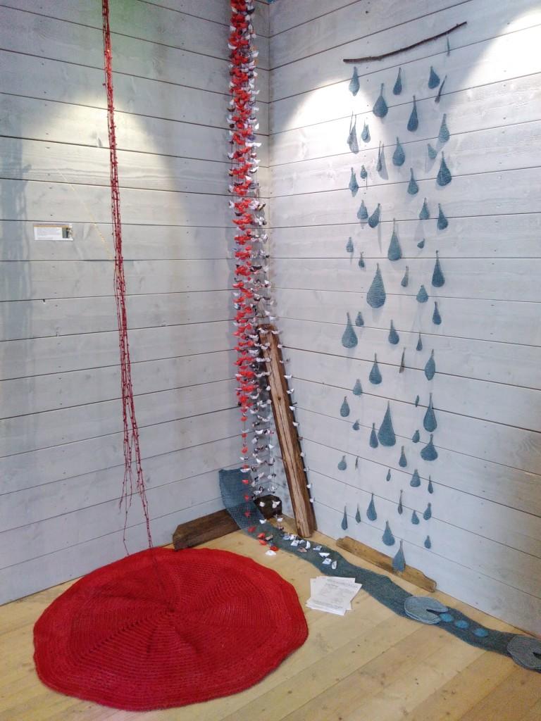 Mitt hörn på Kultur i Sjöbobygdens samlingsutställning påsken 2016.