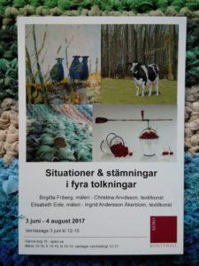 Utställning på Sjöbo konsthall i sommar